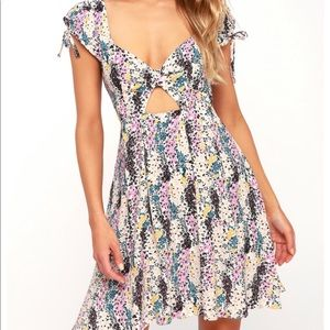 Free People Miss Right Floral Print Mini Dress